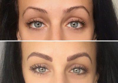 Permanent Make Up Augenbrauen vorher - nachher